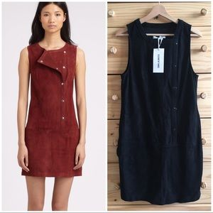 Elizabeth & James Black Leather Stanton Snap Dress